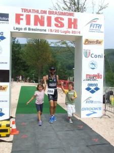 arrivo del primo triathlon di Gabriele Trocianti